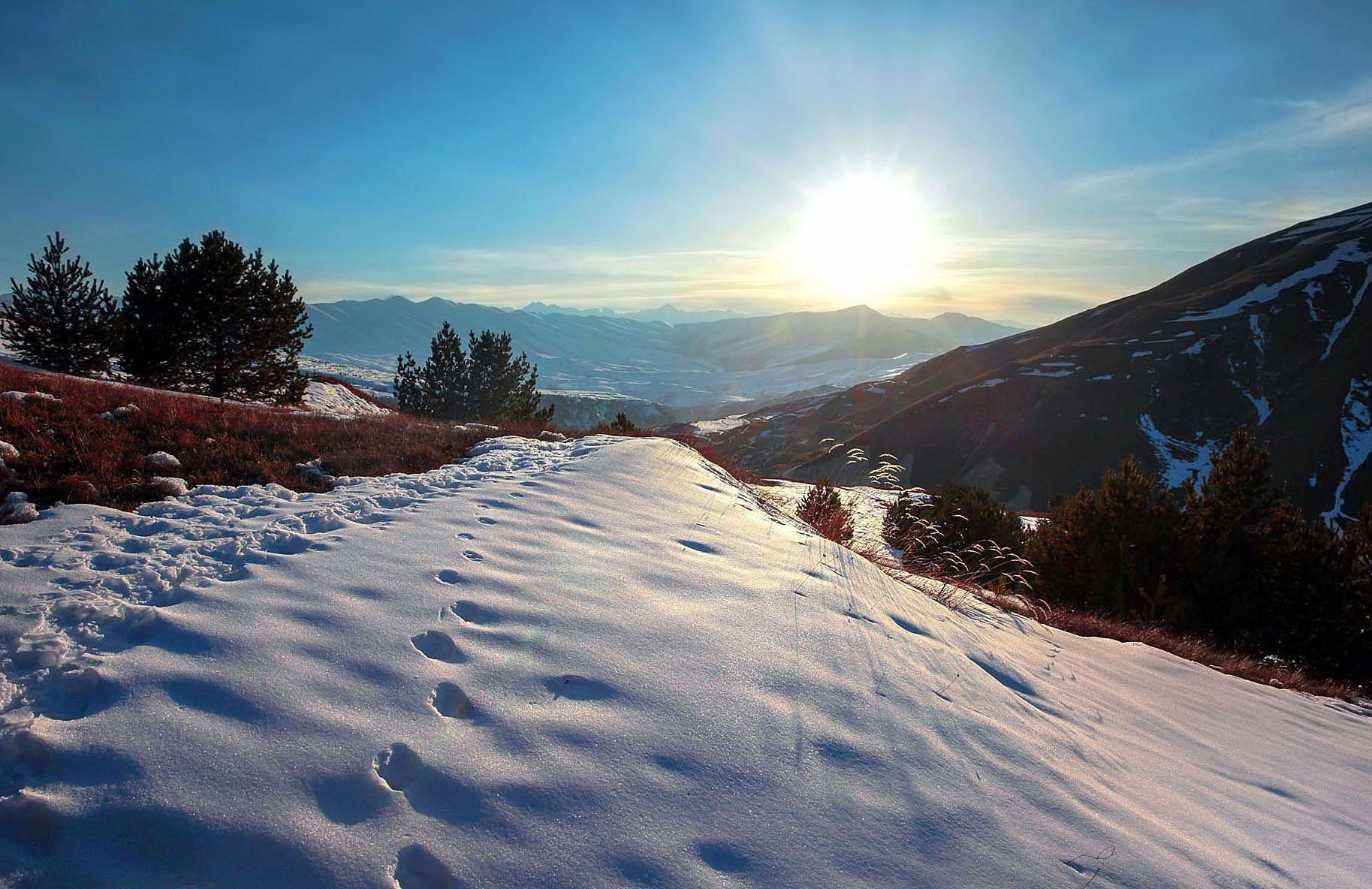 горы,зима,просторы., Марат Магов