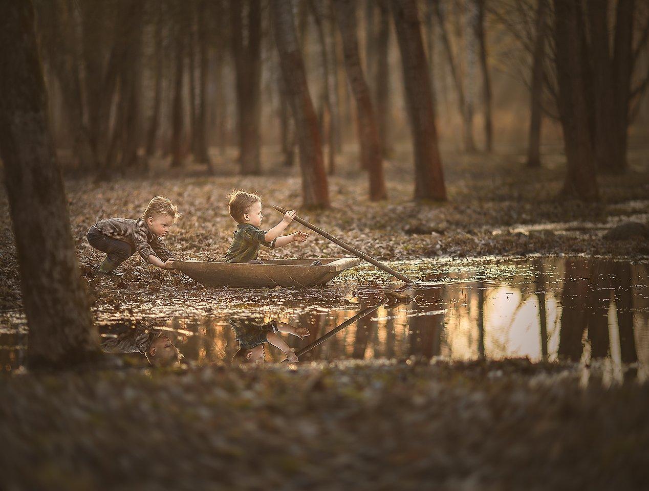 детство, природа, красота, озеро, приключения, свет, солнце, Алёна Алешкевич