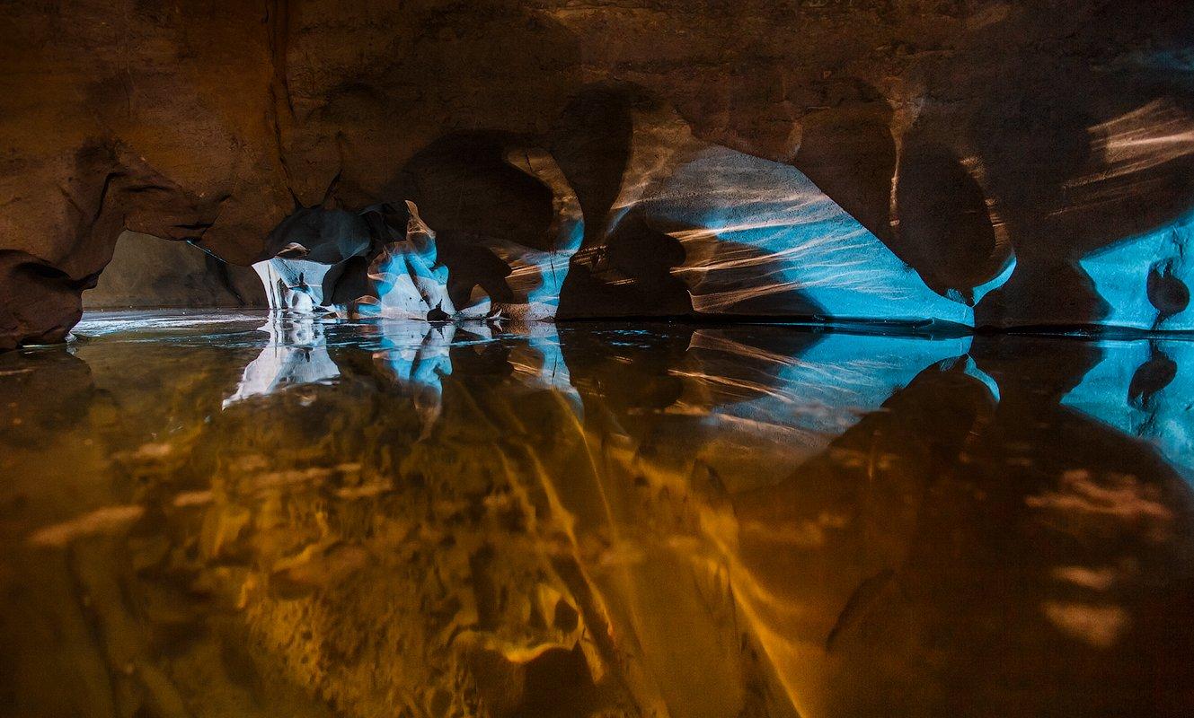 пещера, ночь, свет, цвет, лед, Малафеева Елена