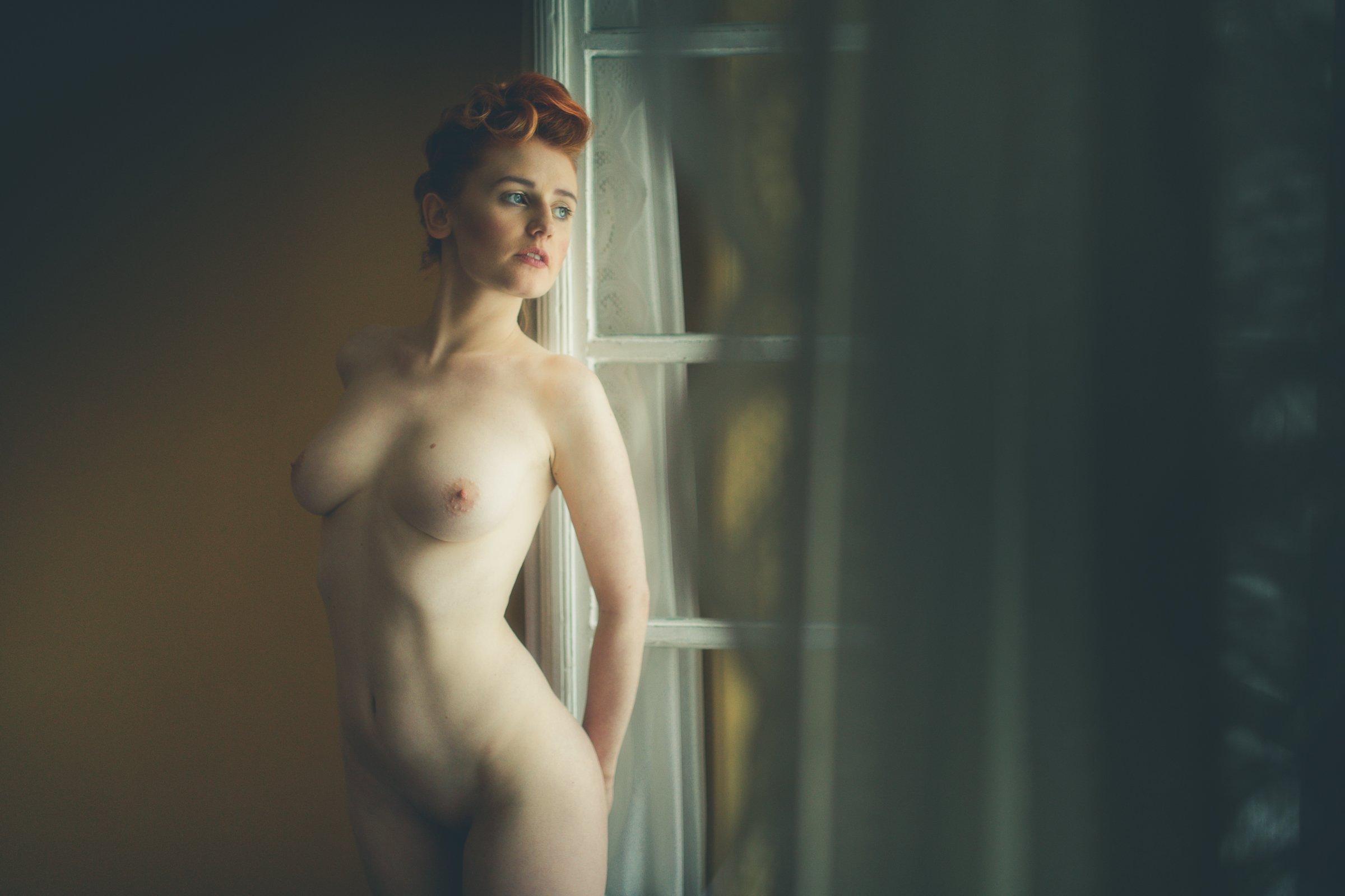 nude,girl,window,light, Marek Biegalski