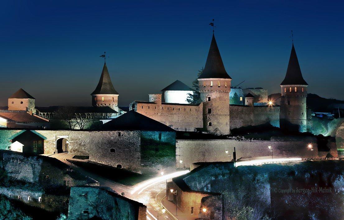 вечер,закат,замок, каменец-подольский, крепость,украина, Sergey-Nik-Melnik.by