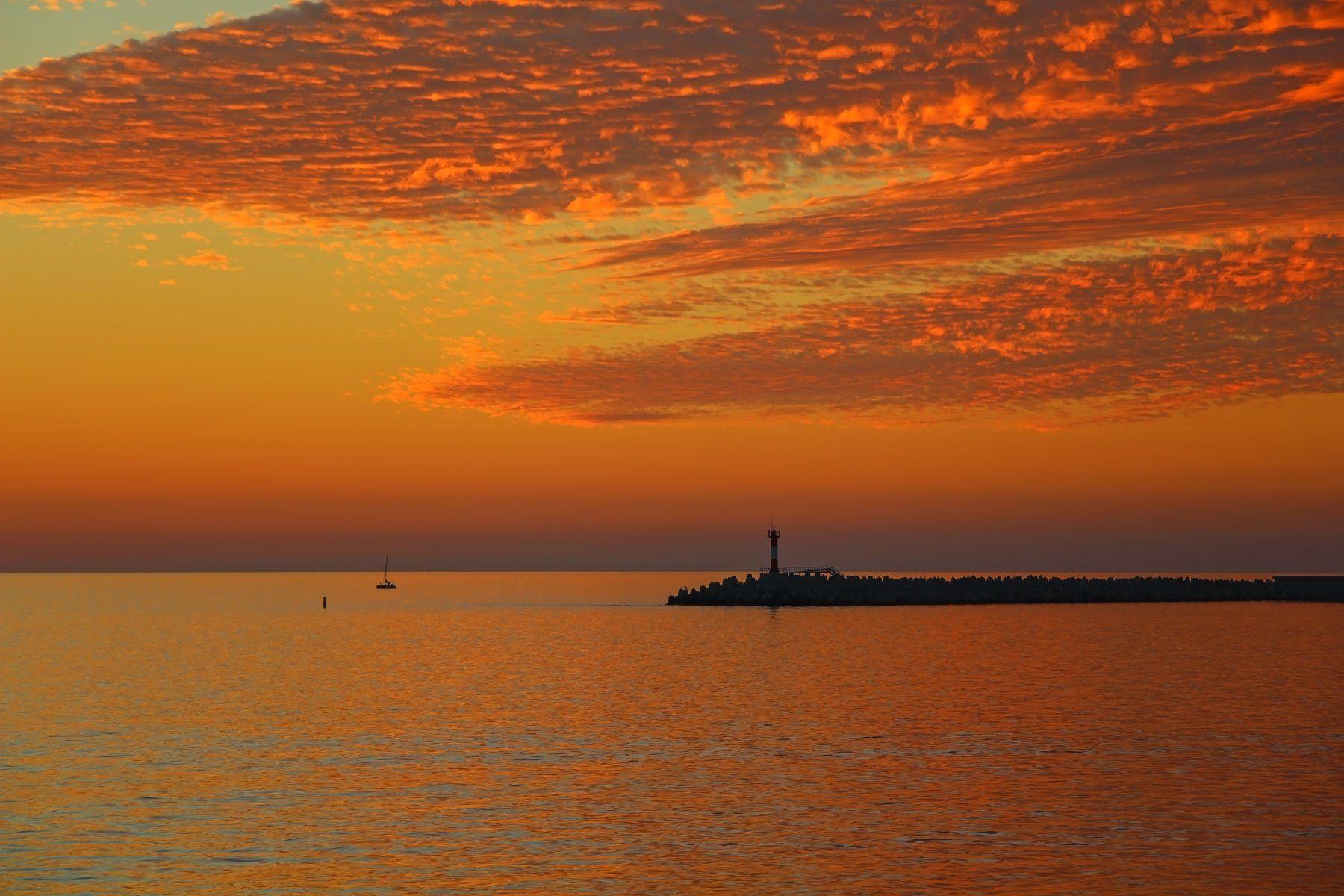 море, закат, Эстелла