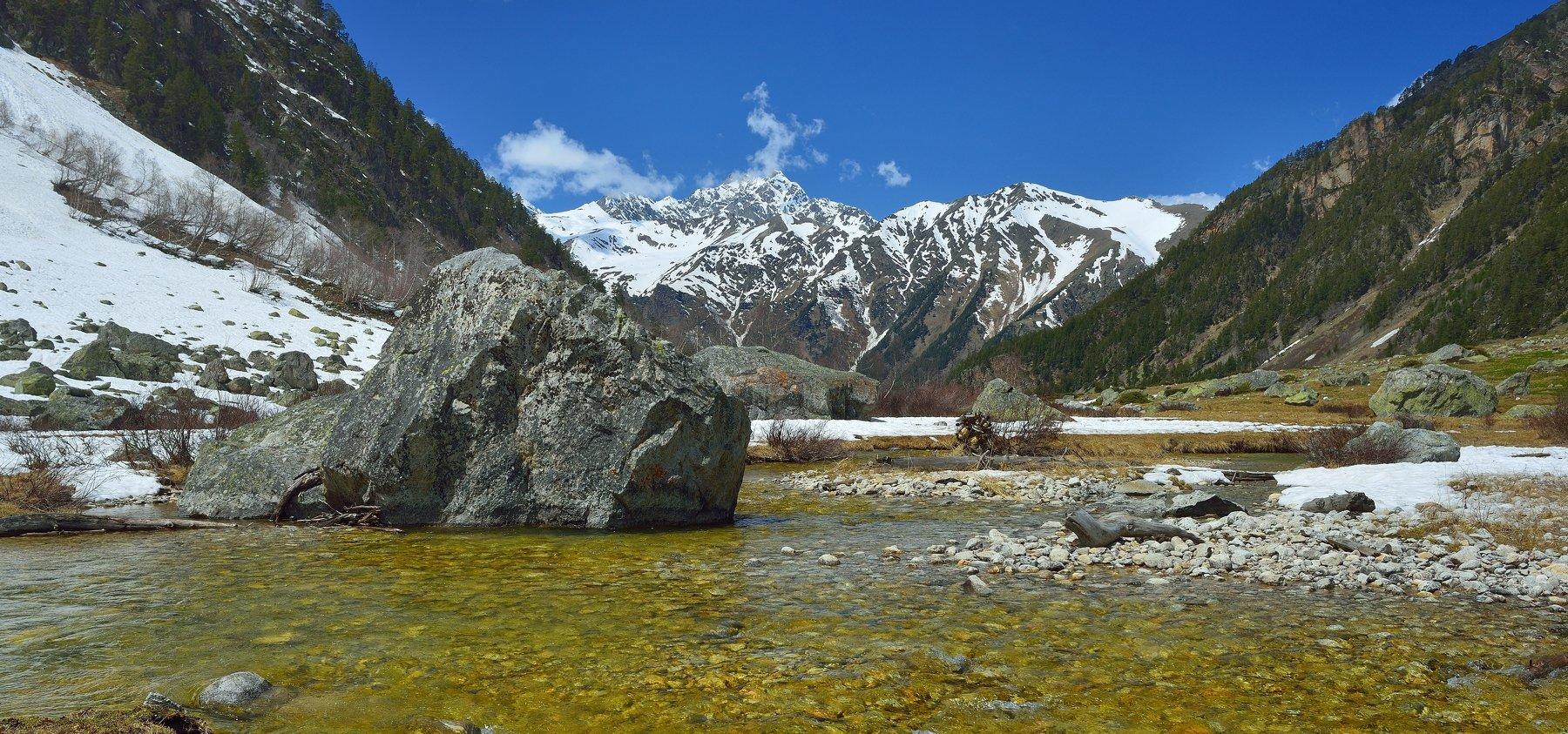 горы весна кавказ, Александр Жарников