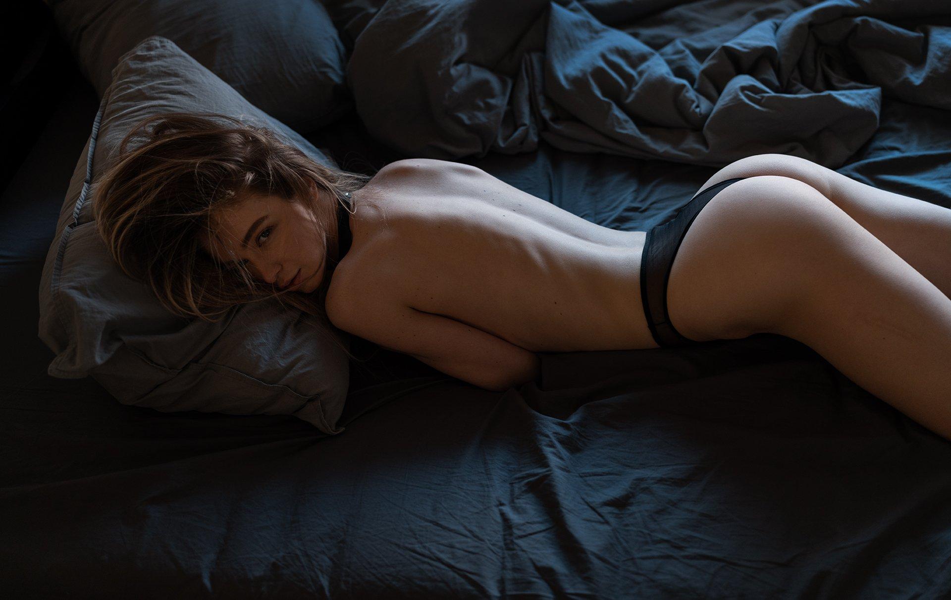 girl, nude, bed, at home, natural light, коверильича, Роман Филиппов