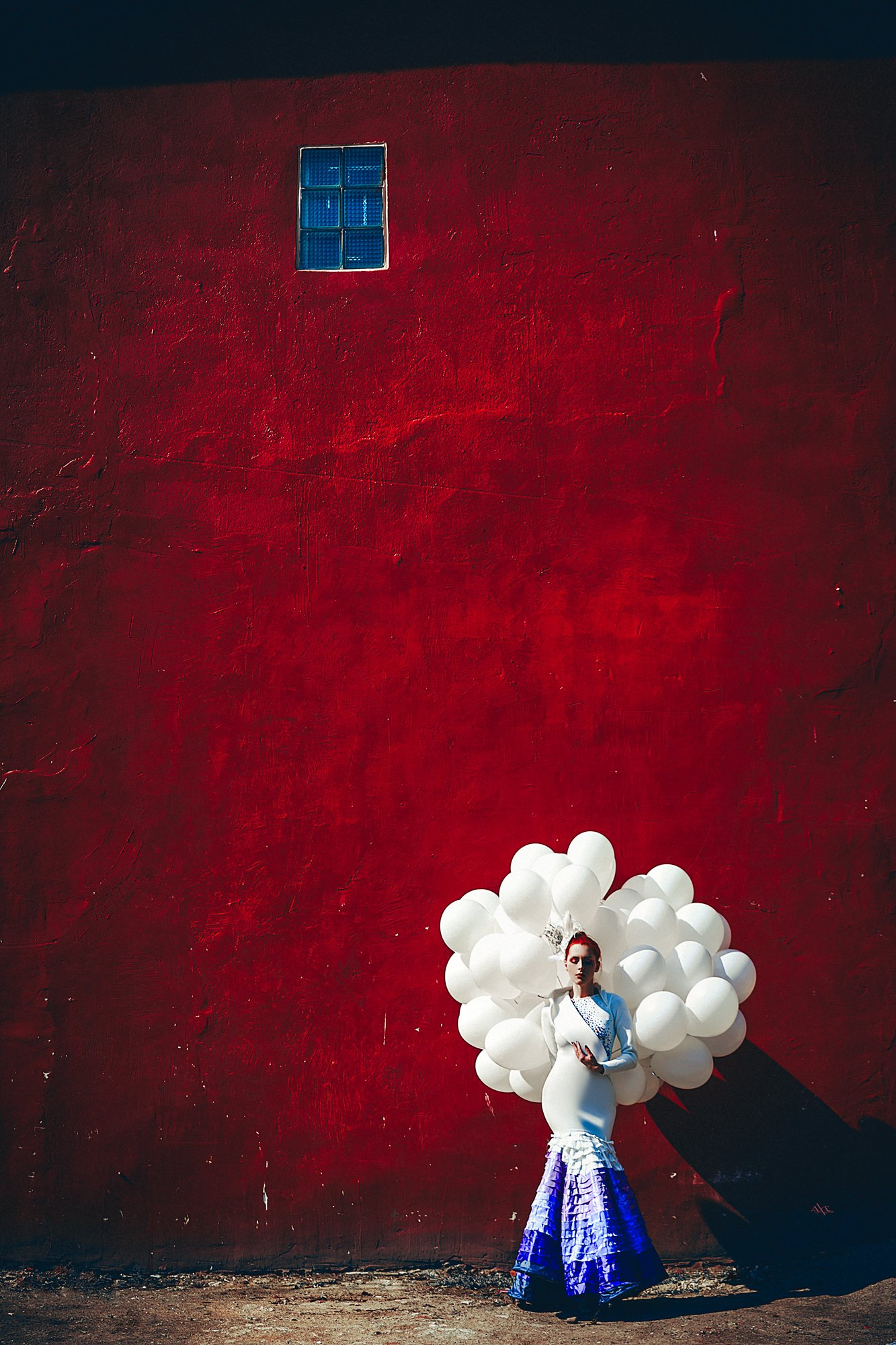 woman, portrait, dress, fashion, conceptual, balloons, Руслан Болгов (Axe)