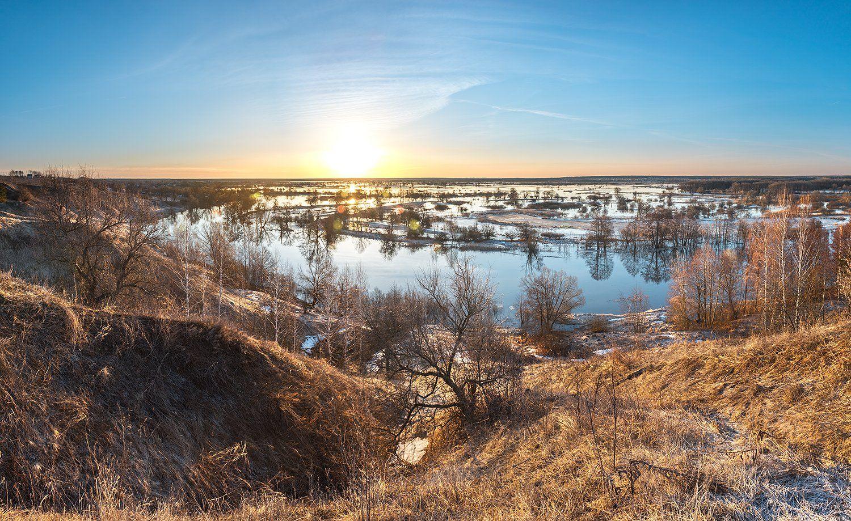 весна,половодье,рассвет, Соколов Андрей