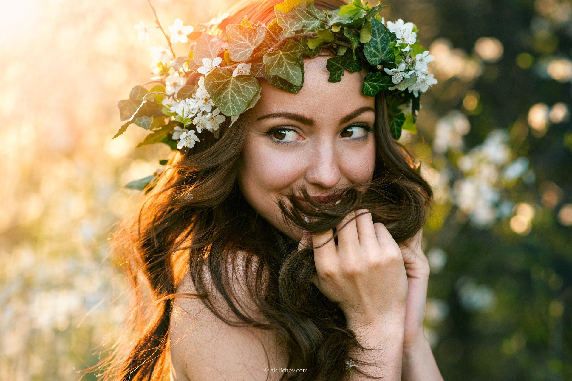 портрет, девочка, весна, Александър Киричев