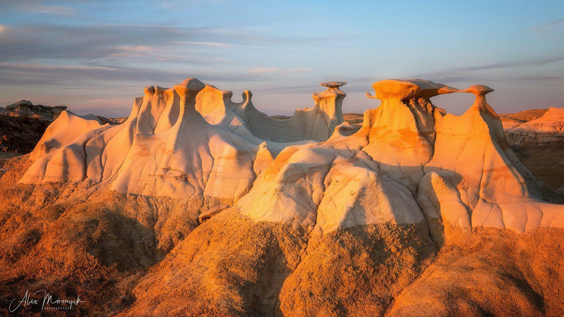 сша, пустыня, бэдлендс, глиняная, панорама, скалы, грибы, каменные, Alex Mironyuk