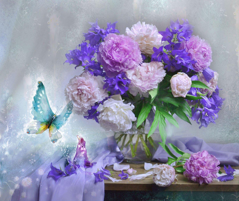 still life,натюрморт, осень, ноябрь, цветы, пионы, фото натюрморт, стихи, колокольчики, Колова Валентина