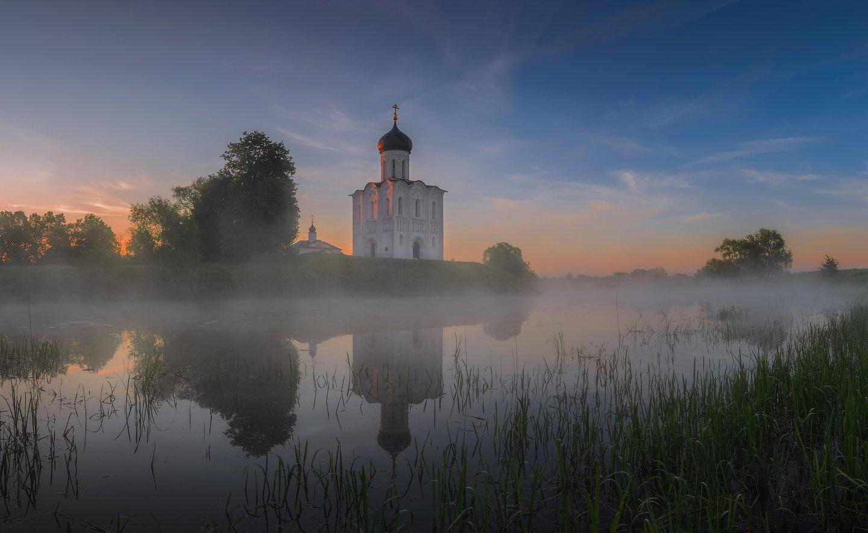утро, рассвет, природа, туман, озеро, Виталий Левыкин