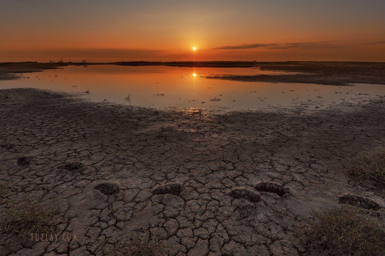 темрюк, таманский полуостров, земля таманская, грязевой вулкан, вулканы тамани, утро на вулкане, Владимир Тузлай
