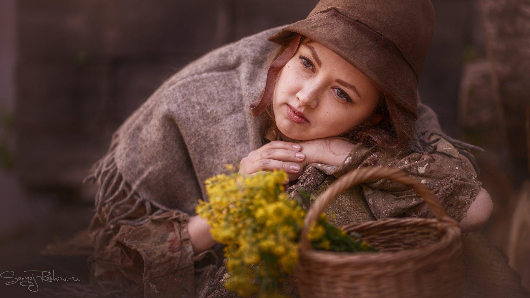 девушка, модель, портрет, цветы, rekhov, Сергей Рехов