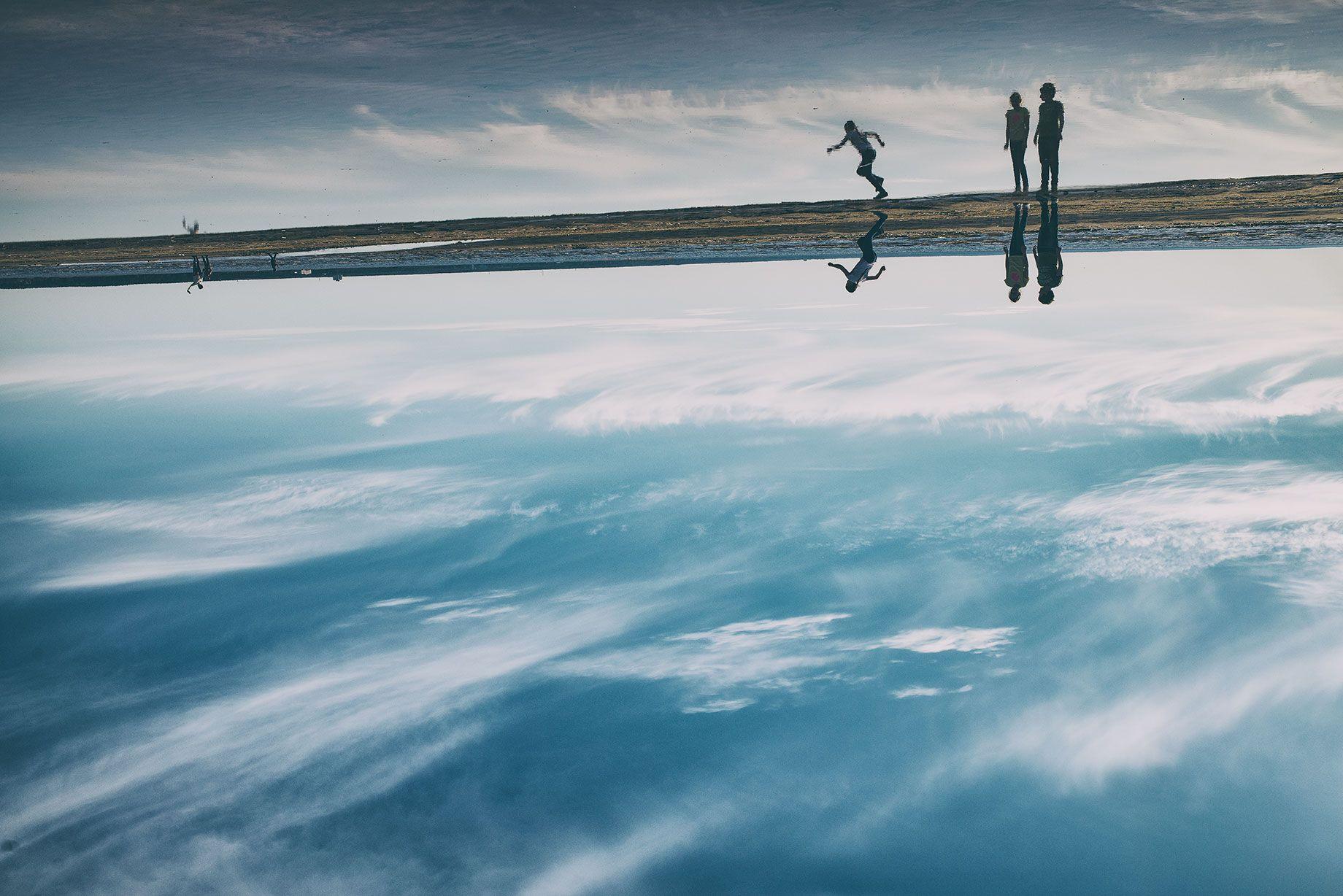 залив, вода, море, отражения, силуэт, Виктория Разина