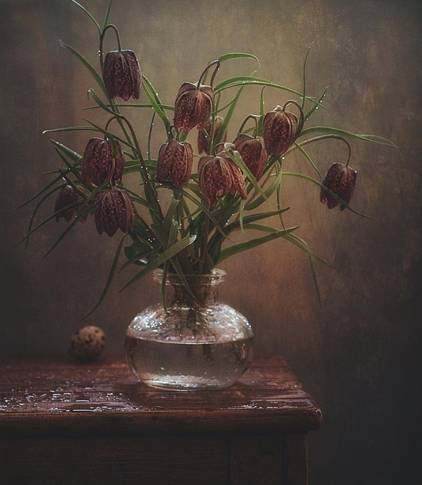 натюрморт,рябчики,цветы, Наталия К