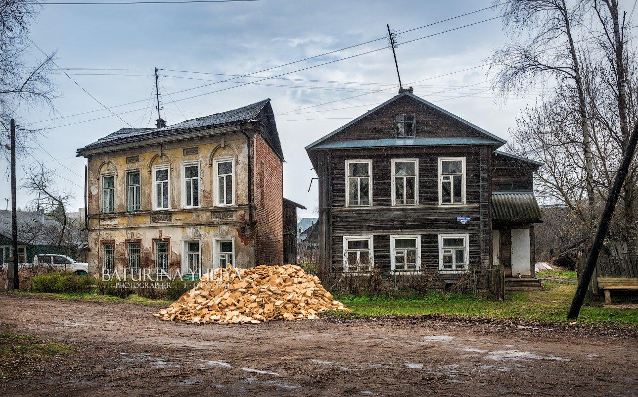 вышний волочёк, дождь, дом, Юлия Батурина