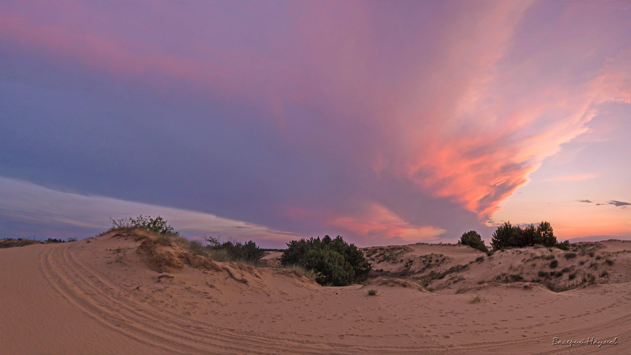 вечер, июнь, закат, небо, облака, Валерий Наумов