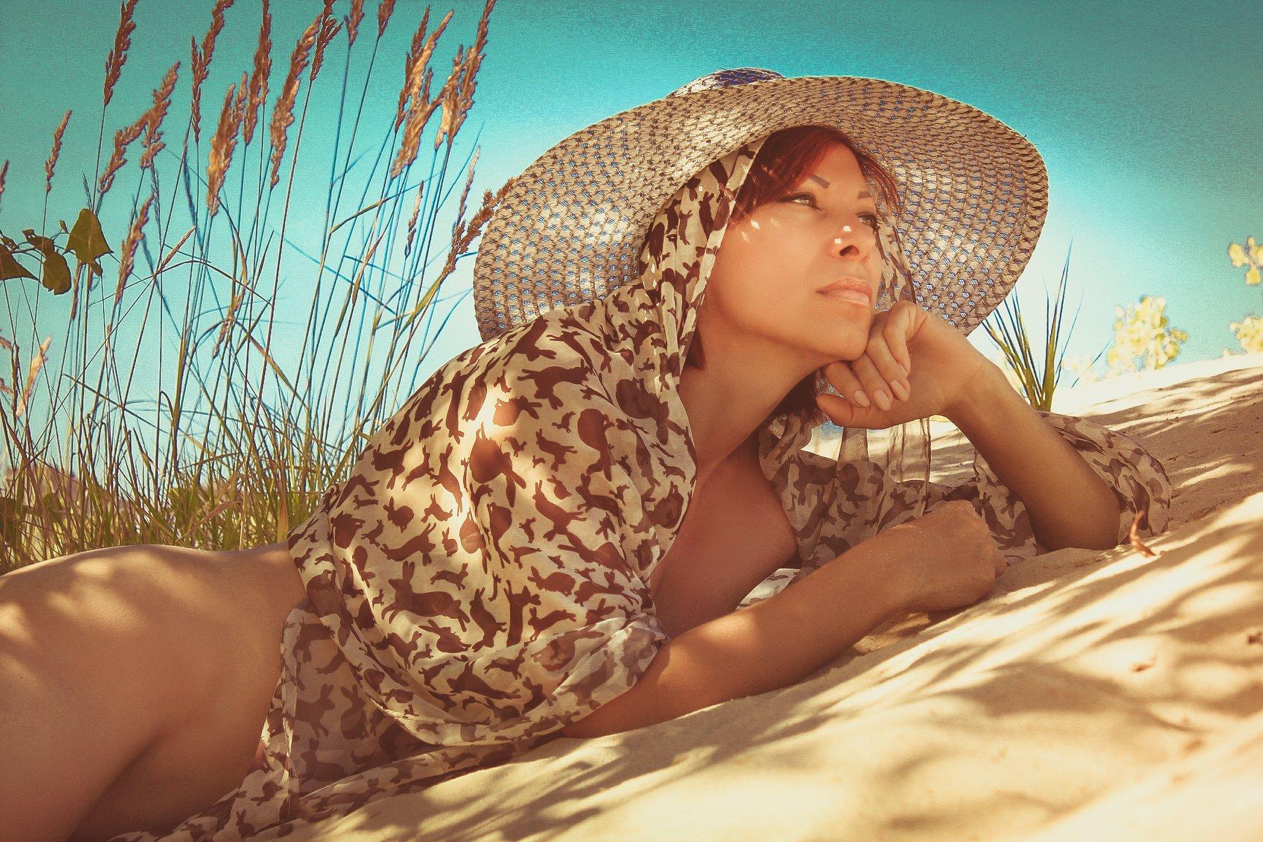 девушка, лето, тень жара, Элен