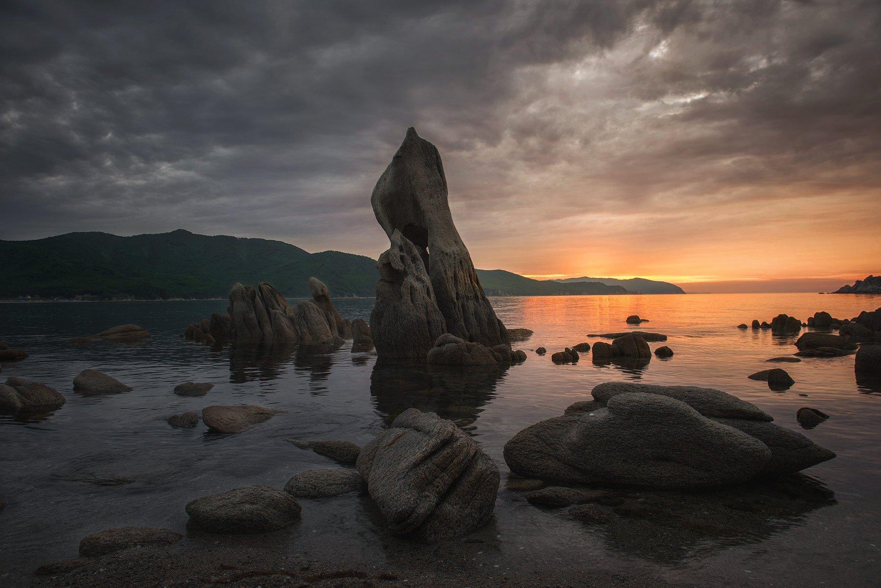 приморский край, море, солнце, рассвет, море, побережье, Сорокин Алексей