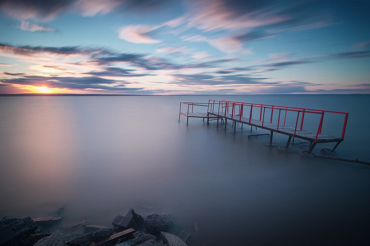 landscape long exposure sunset пейзаж длинная выдержка закат, Влад Степанов