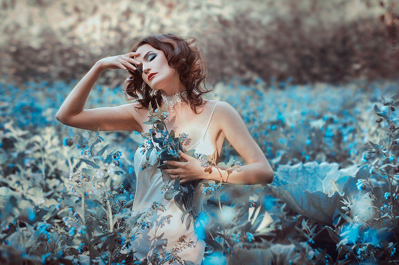 portarit, girl, style, портрет, model, fineart,picture, blue, Kerry Moore