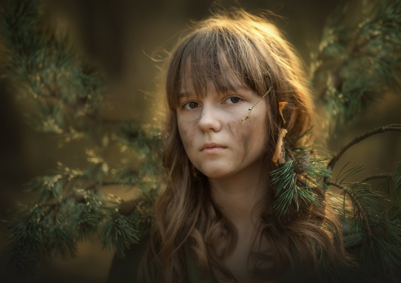 Портрет, лес, Анастасия Крылова