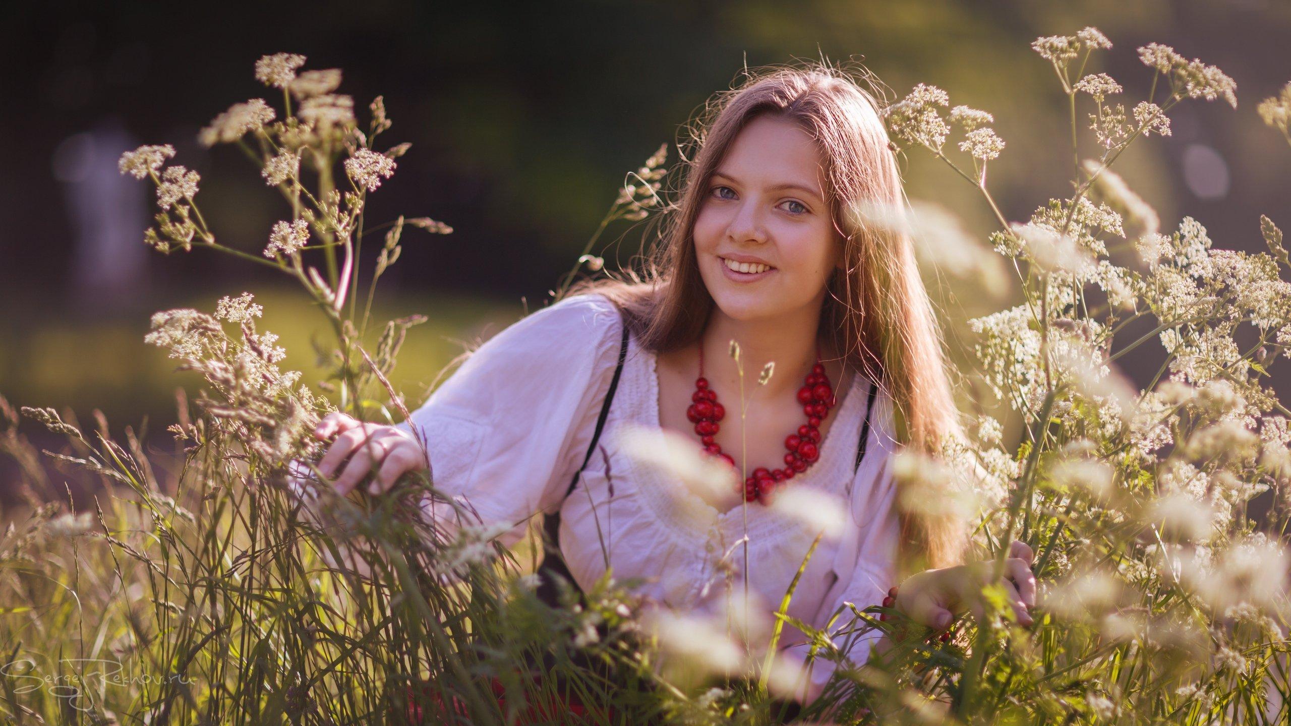 девушка, model, поле, цветы, рехов, сергейрехов, rekhov, sergejrekhov, Сергей Рехов