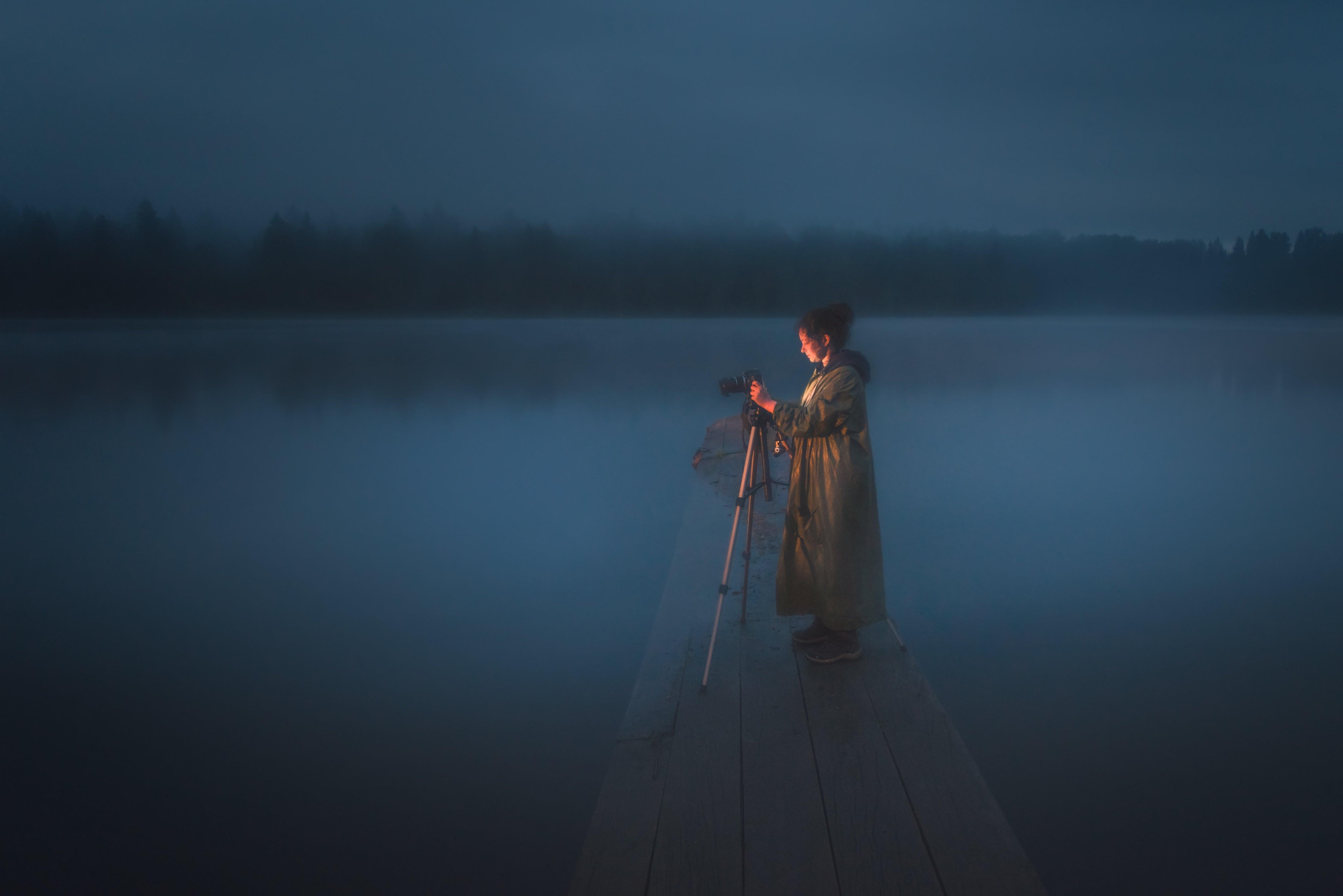 #алтай #салаир #салаирскийкряж #longexposure #night #woman #landscape #pond #mist #haze #fog #photographer #altaikrai #salair #water #night #пейзаж #женщина #модель #ночь #фотограф #magic, Денис Соломахин