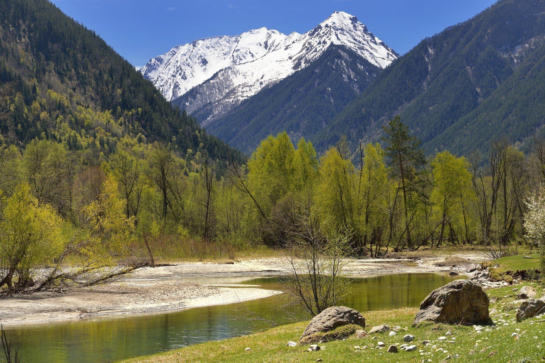 горы весна кавказ учкулан, Александр Жарников