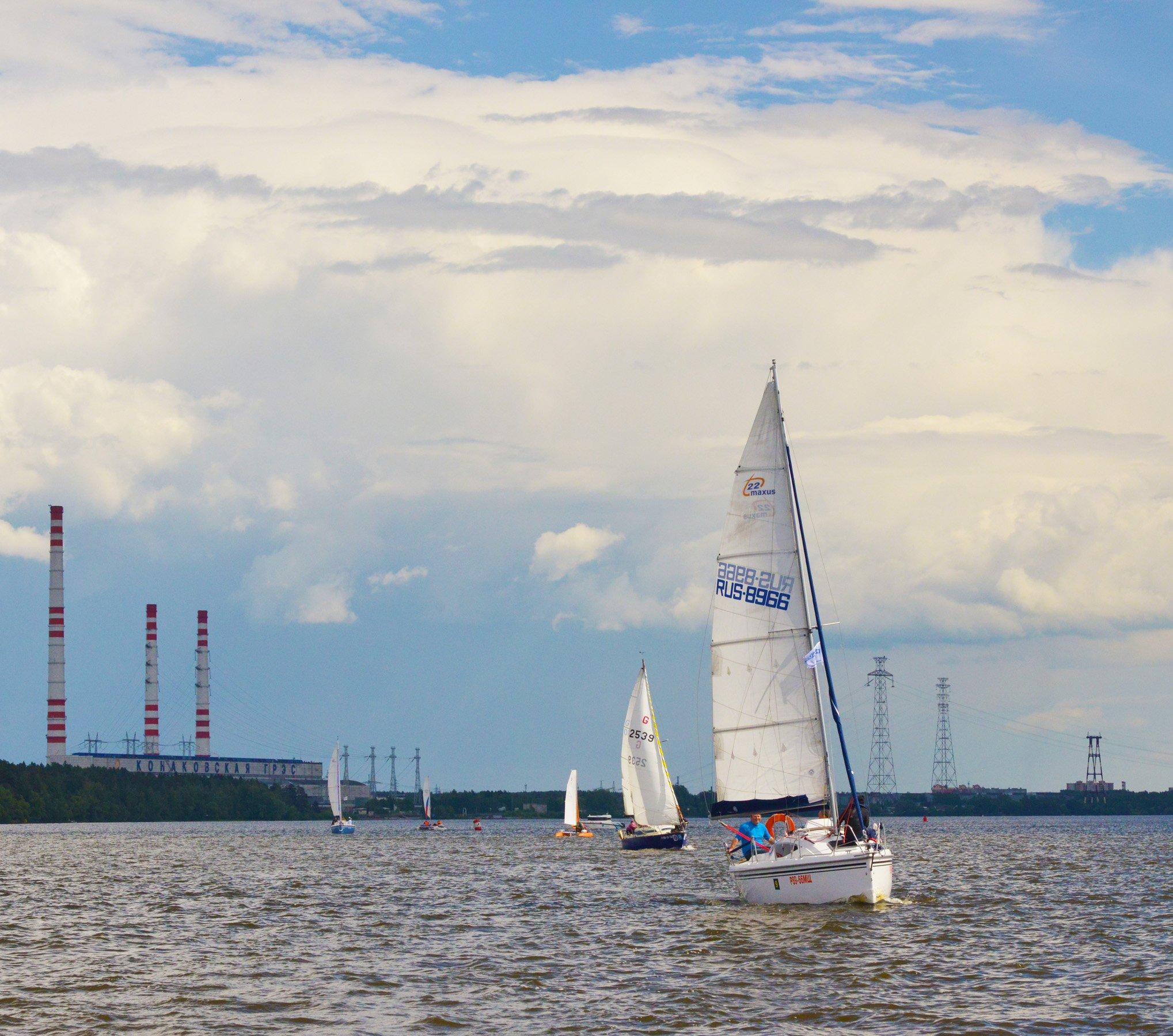 московское море, иваньковское водохранилище, конаково, народная регата, Сергей Седов