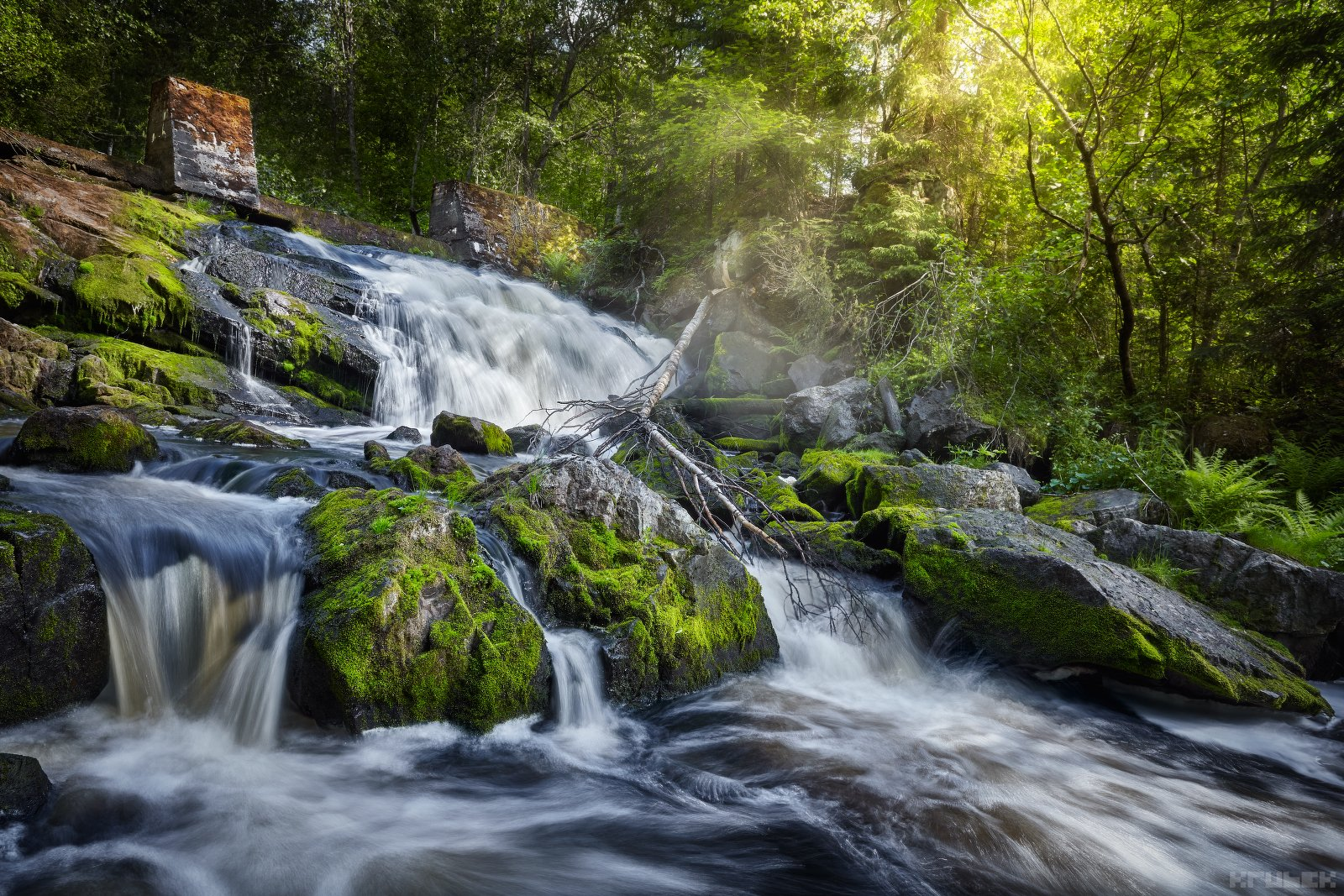 карелия, водопад, пейзаж, природа, север, KrubeK