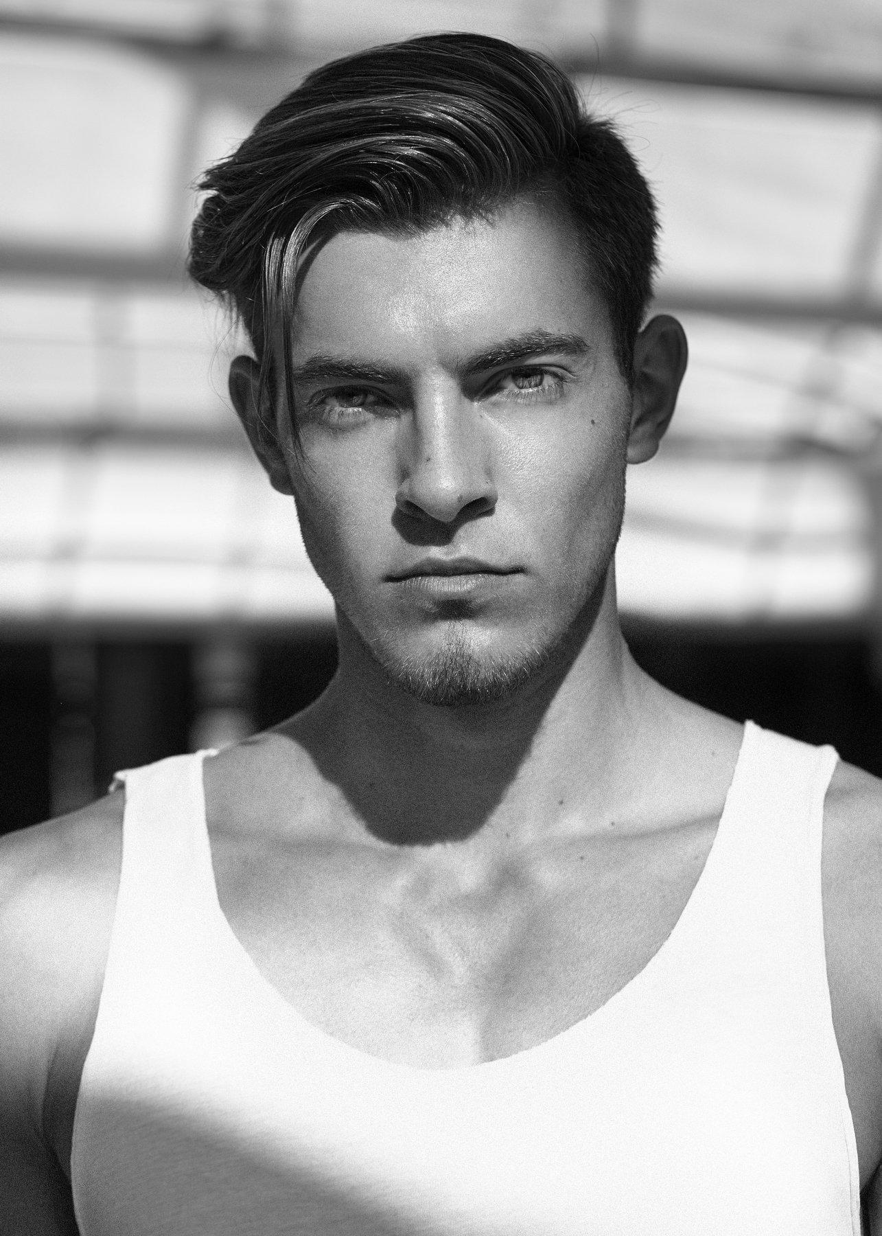black white, asen andreev, portrait, man, light , natural, fashion model, asen