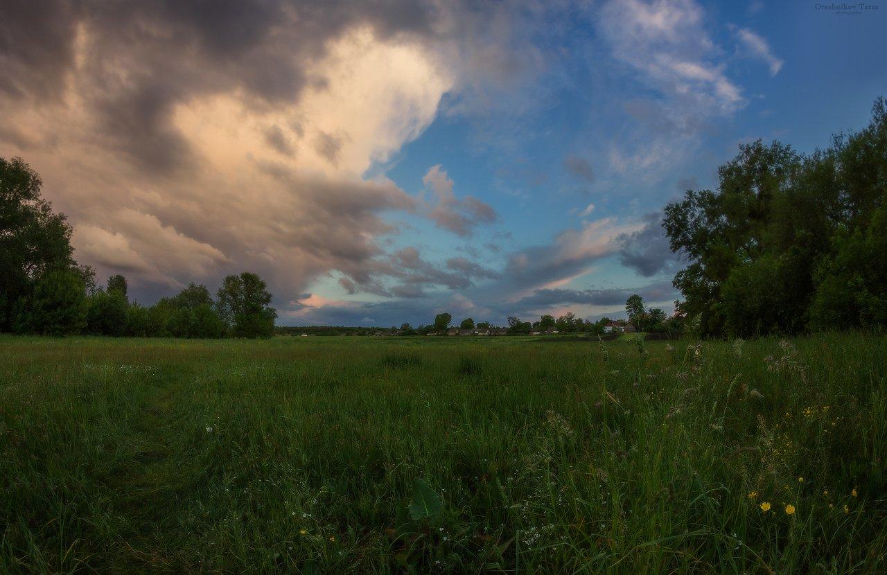 пейзаж,природа,погода,небо,лето,луг, Taras