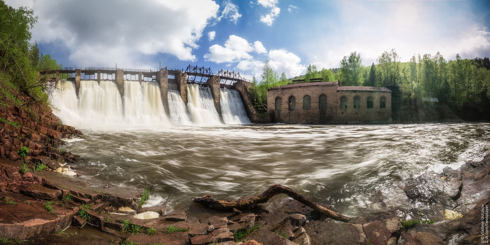 гэс, гидроэлектростанция, пороги, порожская гэс, река, большая сатка, челябинская область, Владимир Ушаков