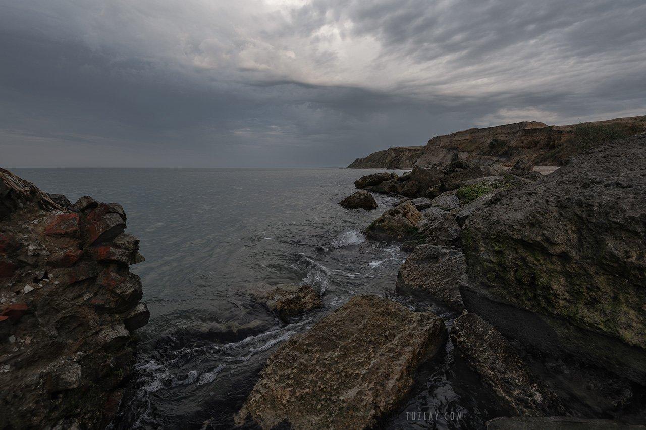 азовское море, июнь, вечер, пляж, азовский берег, за родину, Владимир Тузлай
