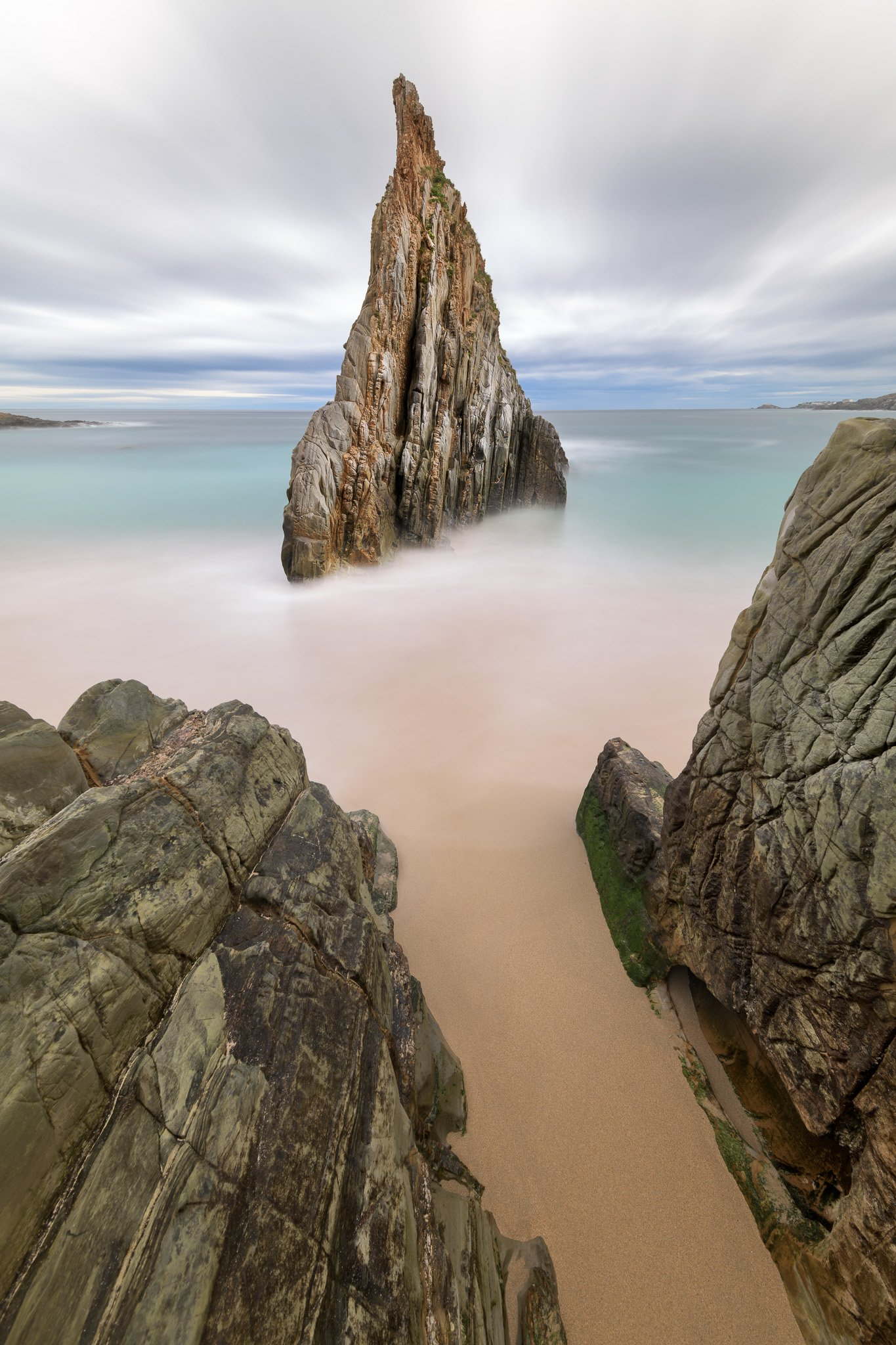 asturias, atlantic, beach, blue, cliff, cloud, coast, coastline, dawn, edged, europe, idyllic, landmark, landscape, mexota, morning, natural, nature, needle, obelisk, ocean, outdoor, pointed, rock, rocky, sand, sandy, scenery, scenic, sea, seascape, seasi, anshar