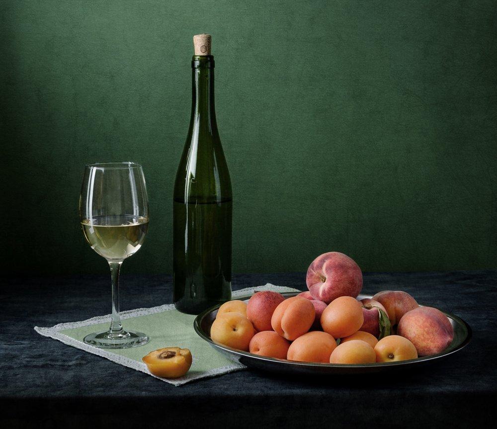 абрикосы, вино, персики, Андрей Угренинов
