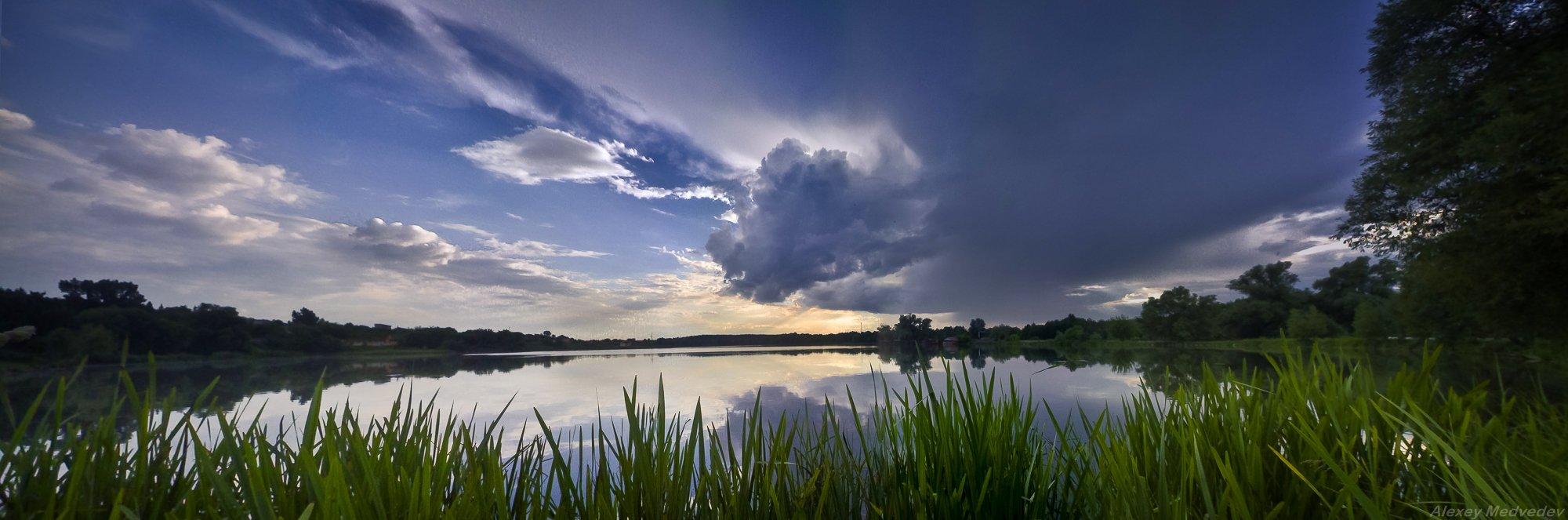 васильков, стугна, погребы, озеро, гроза, панорама,, Алексей Медведев