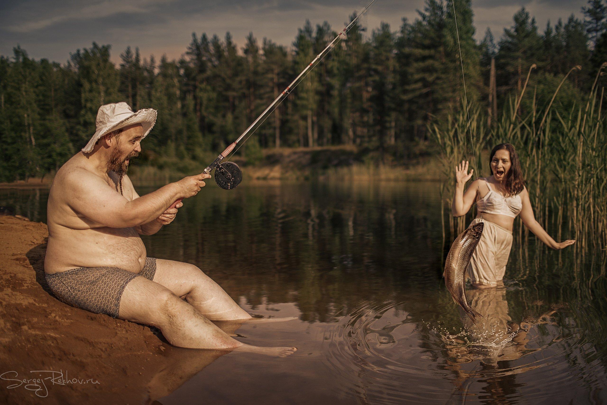рыбалка, девушка, рыба, Сергей Рехов
