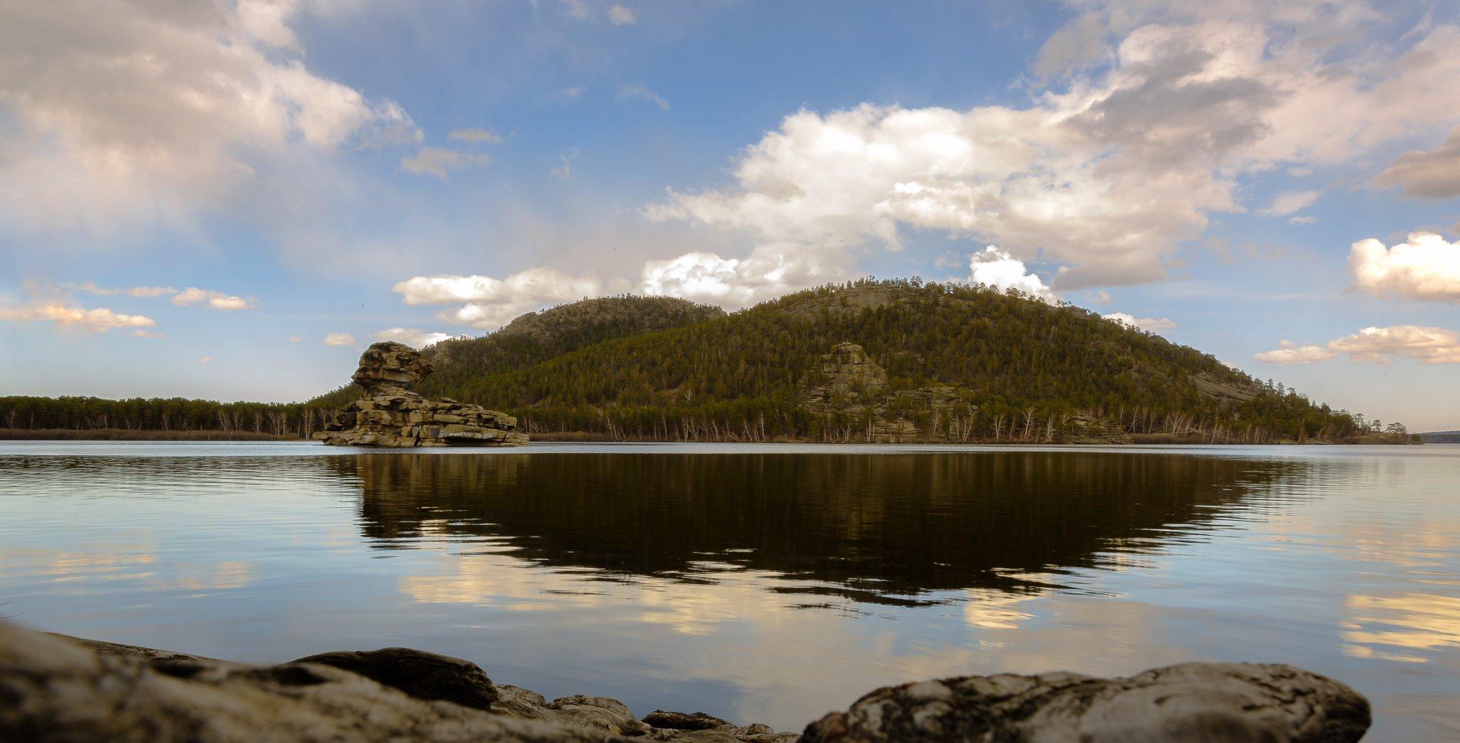 природа, озеро, пейзаж, отражение, вода, небо, пейзажи, на открытом воздухе, гора, синий, лес, красота в природе, дерево, лето, облако - небо, спокойная сцена, закат, путешествия, скала - объект, облачный пейзаж,, Павел Ребрук