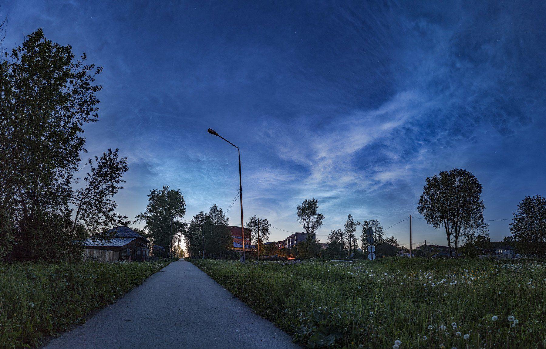 урал, пермский край, лысьва, серебристые облака, Андрей Козлов