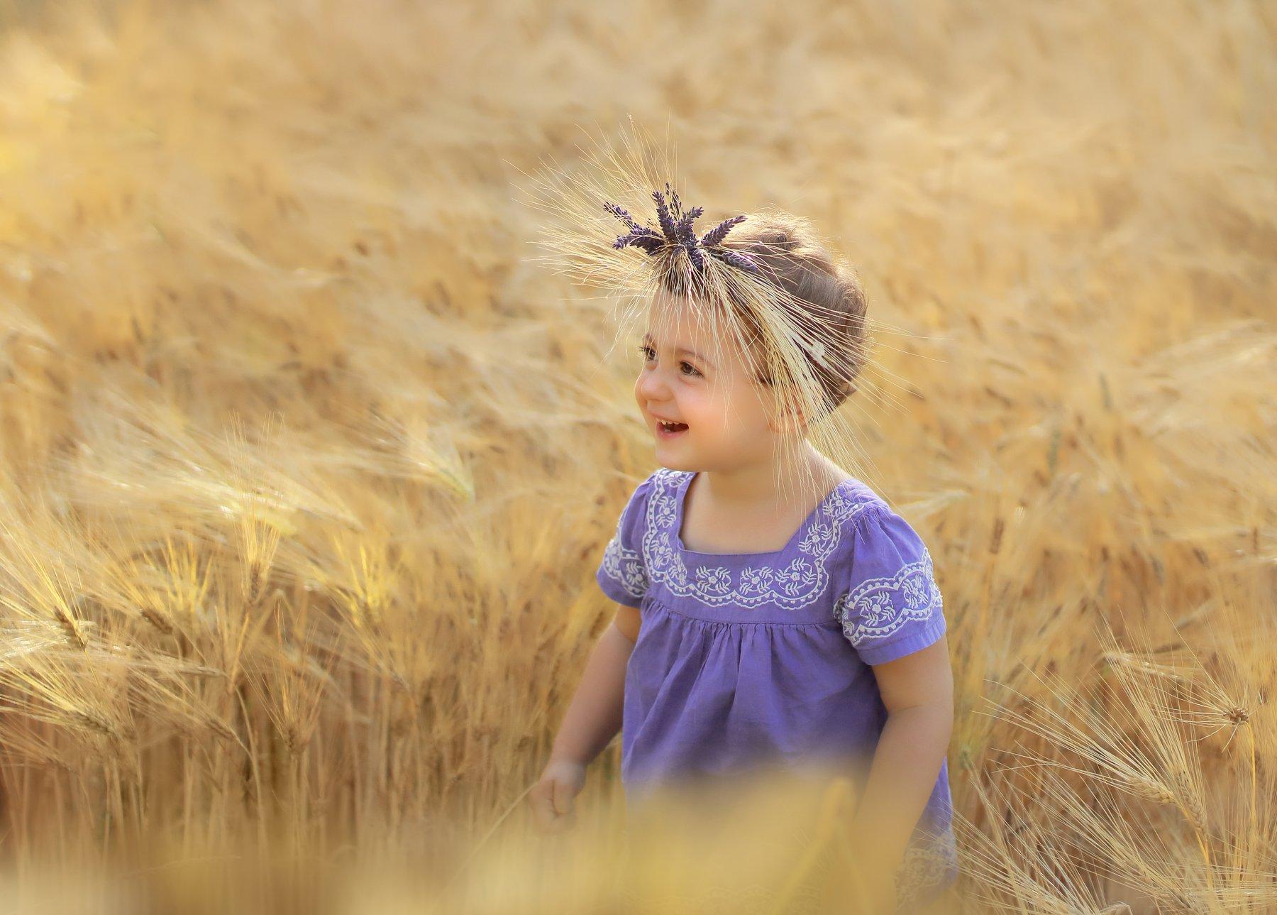 дети, поле, лето, рожь, детство, Irina Welker