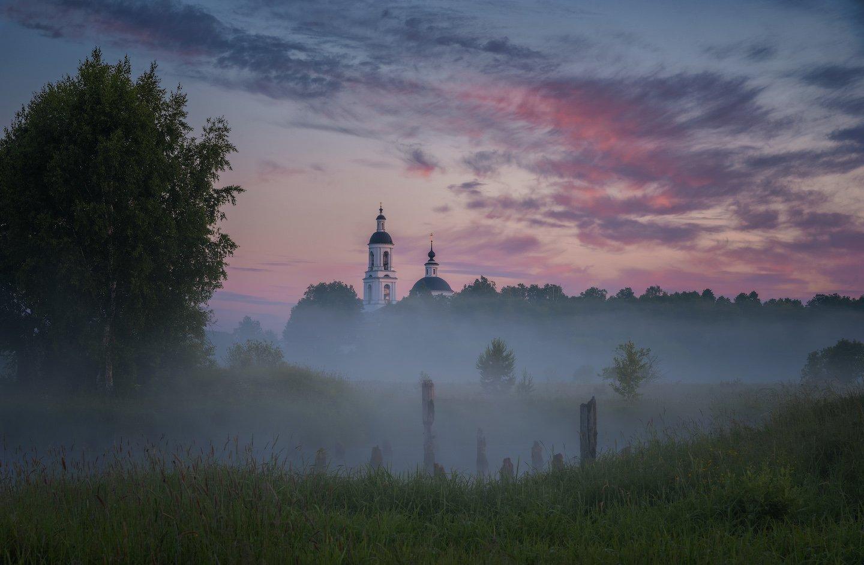 рассвет, природа, река, утро, вода, туман, Виталий Левыкин