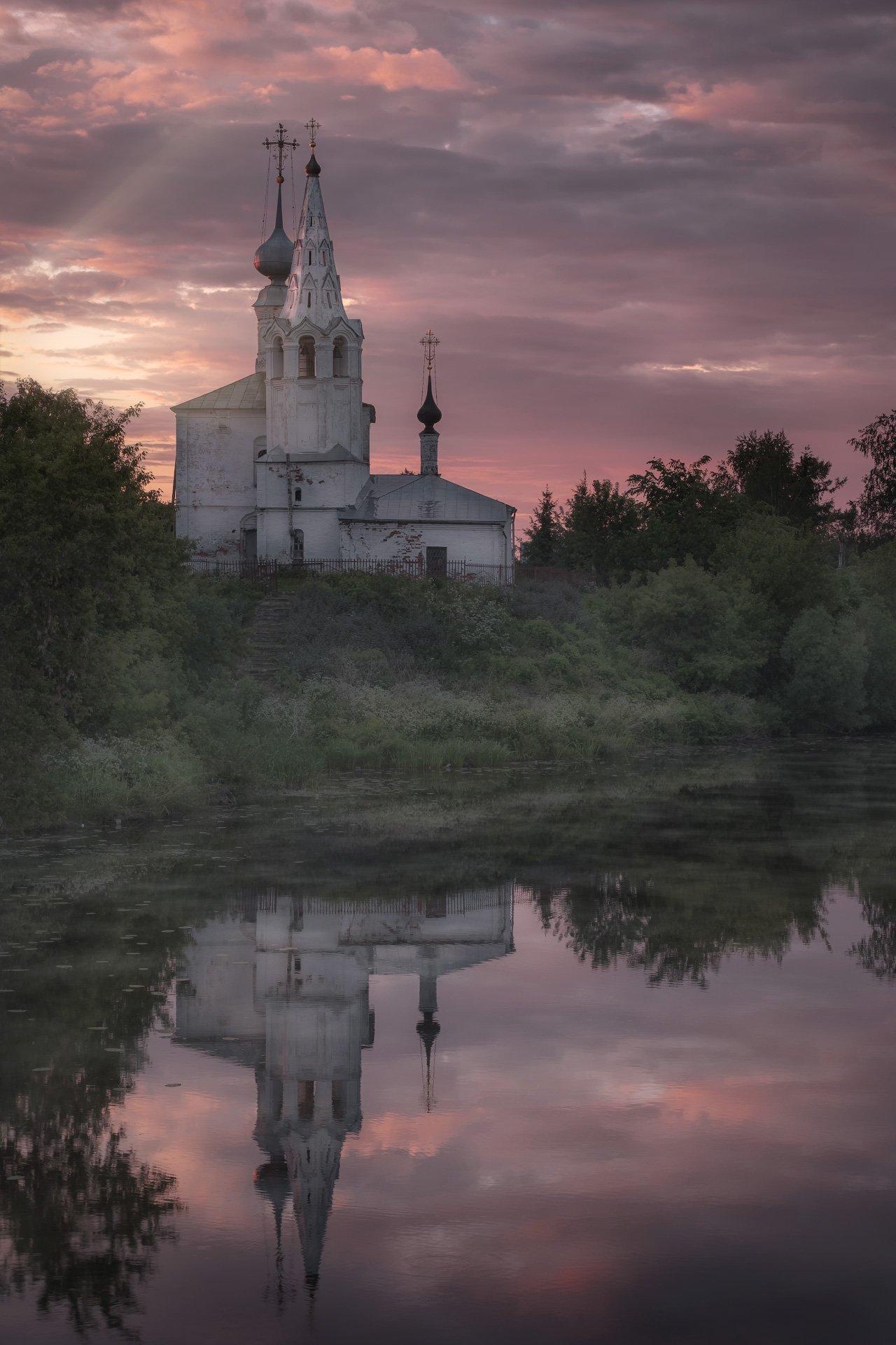 пейзаж, суздаль, каменка, река, церковь, утро, рассвет, Андрей Чиж