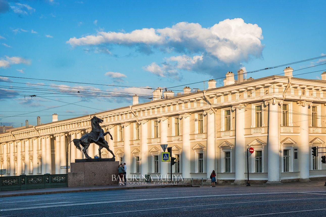 санкт-петербург, аничков мост, конь, Юлия Батурина