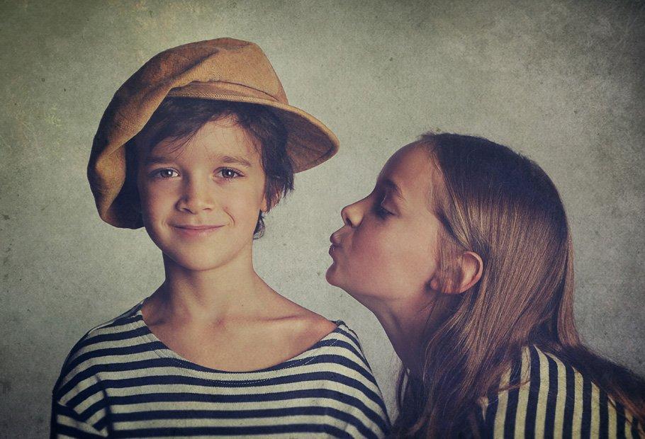 children, boy, girl, portrait, cap, picture, Анна Применко
