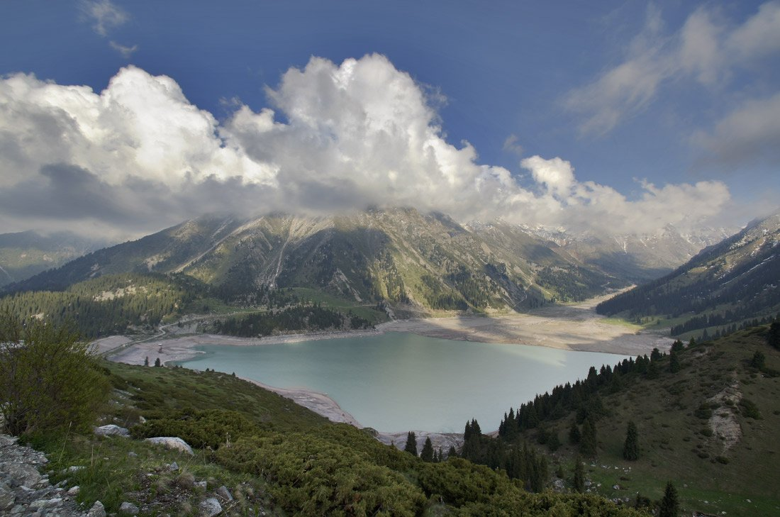 горы, озеро, облака, бао, Ольга Кулакова