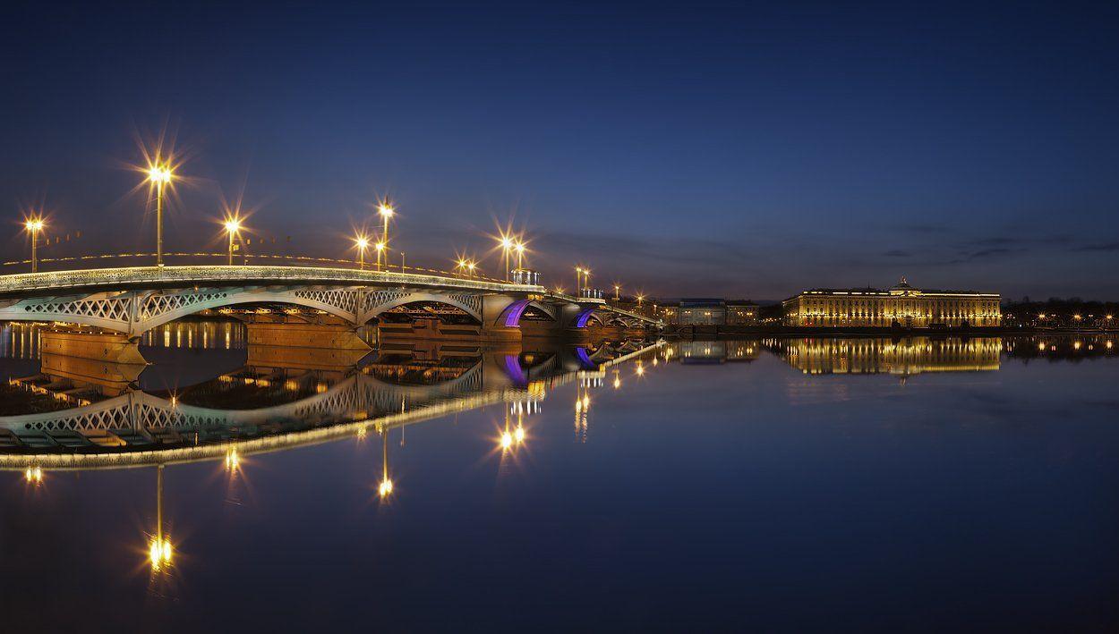 санкт-петербург, благовещенский мост, академия художеств, нева, панорама, EGRA : ЕГРА