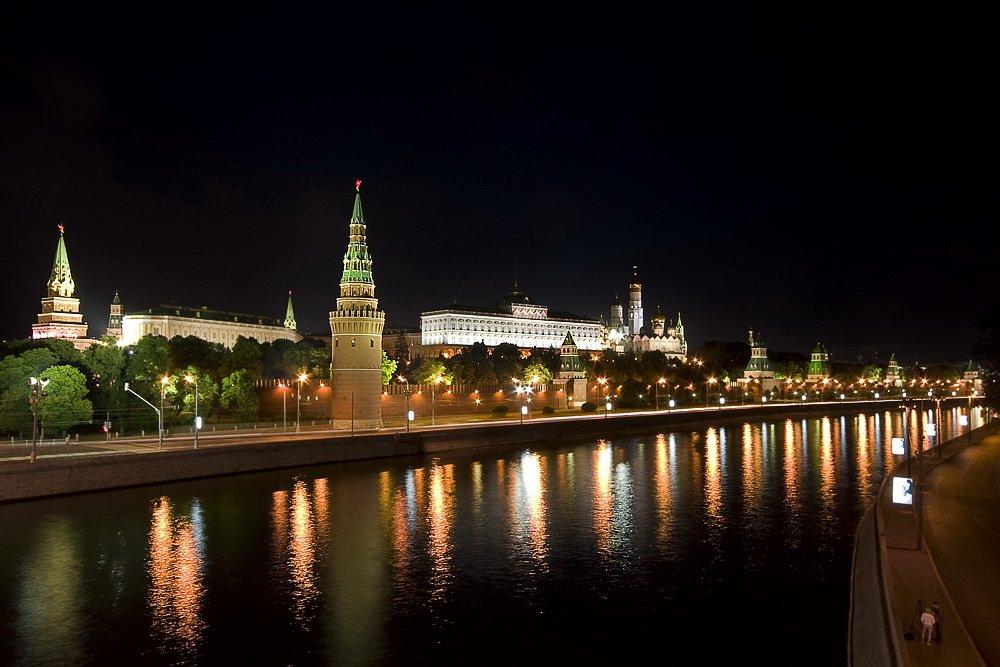 кремль, москва, ночь, Vlad Shanalin