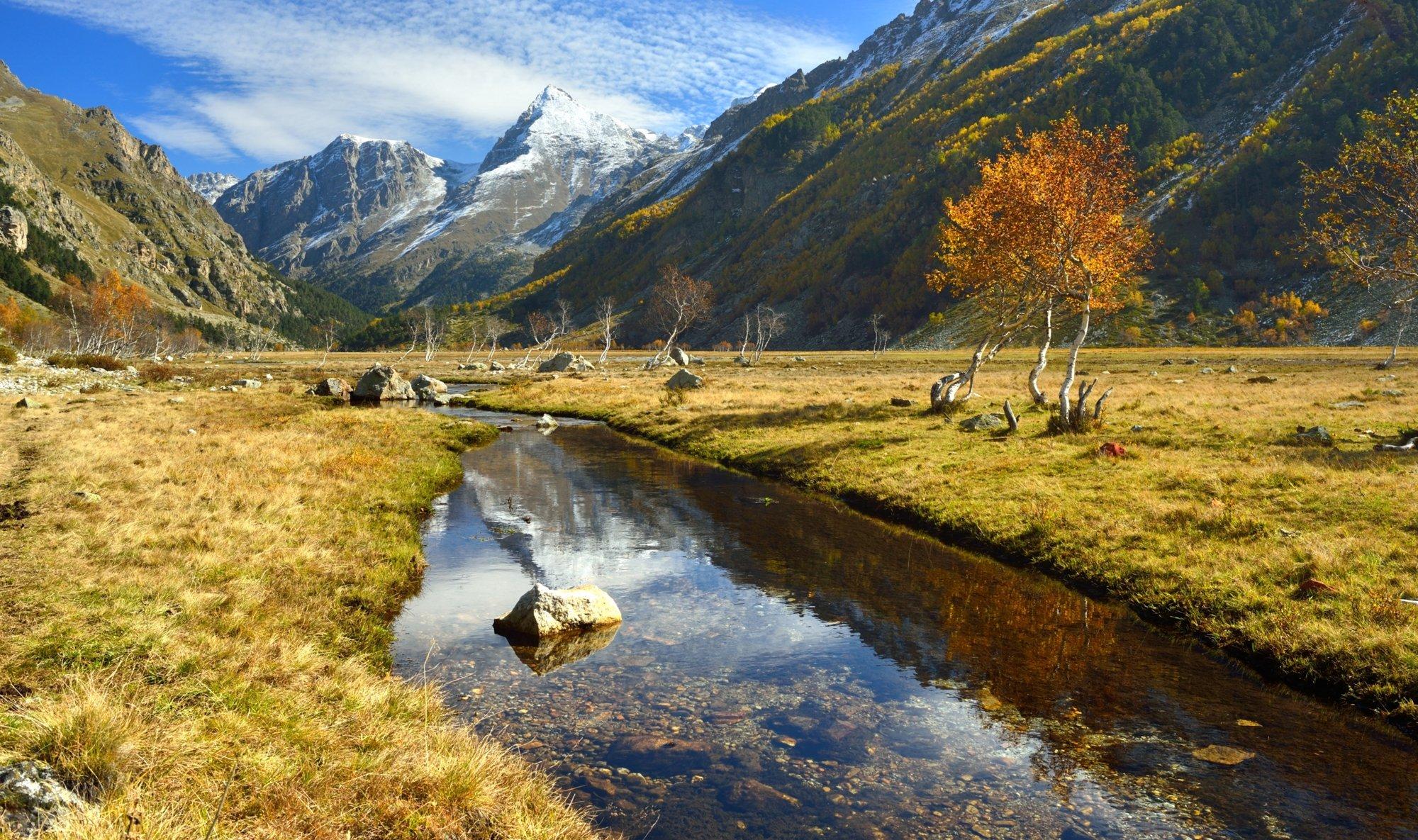 горы осень узункол мырды ручей, Александр Жарников
