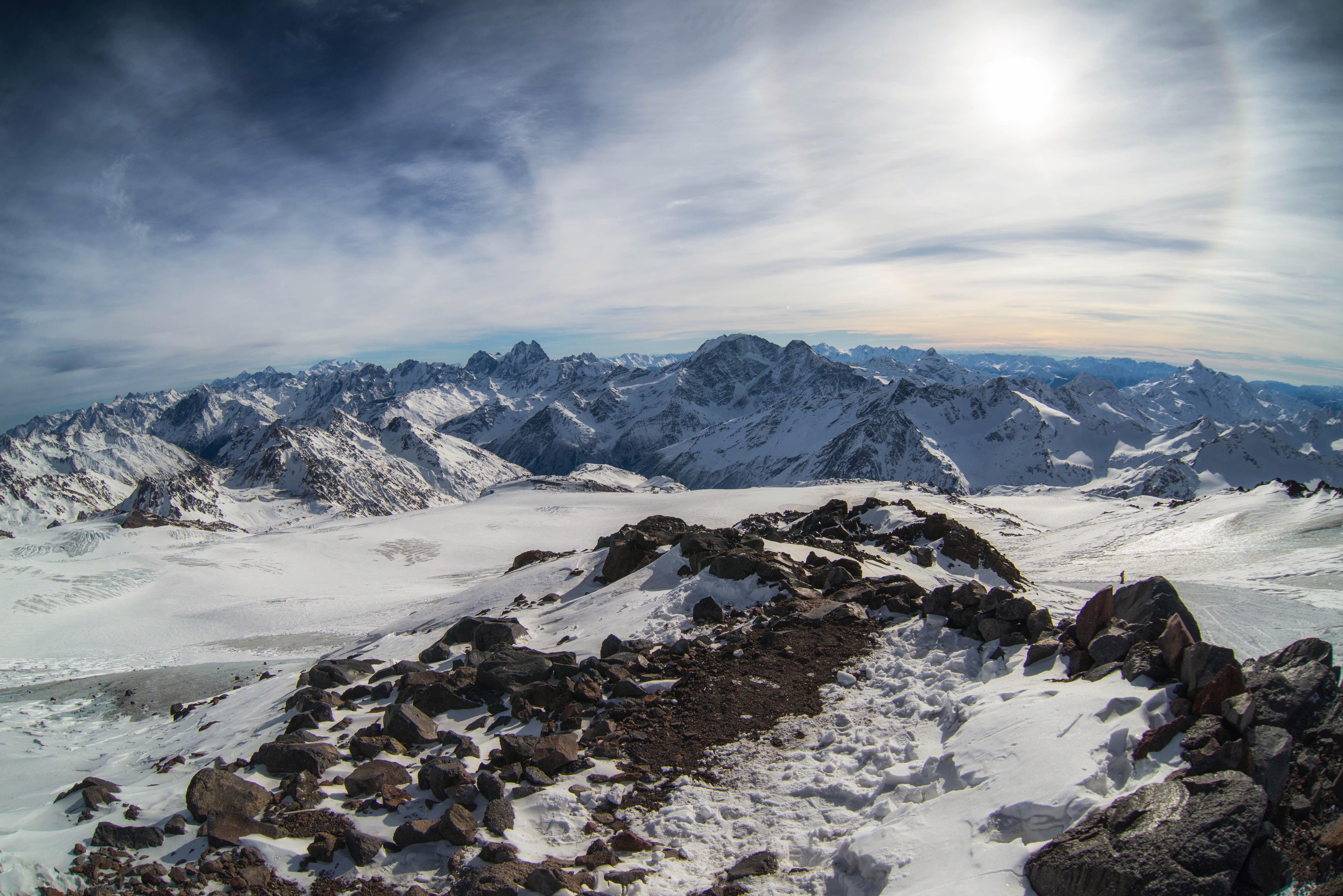 гало солнеце горы  кавказ эльбрус зима природа nature mountains solar halo sun caucasus elbrus, Егор Бугримов